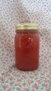 I would call this an old-fashioned jam except for the candied ginger and liqueur.
