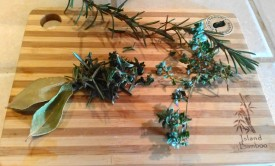Herbs from the garden (and hoop house).