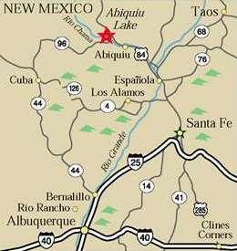 Abiquiu brown map