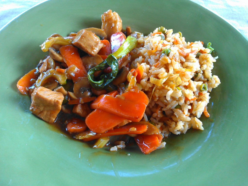 Pork Stir-Fry and Taiwan Fried Rice