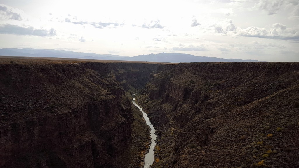 View from the Rio Grande Gorge Bridge, New Mexico.