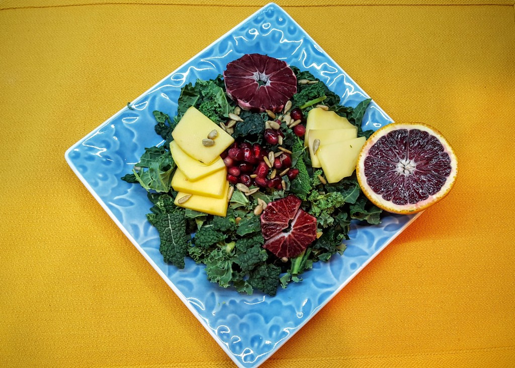 chopped kale salad from Eliot's Eats