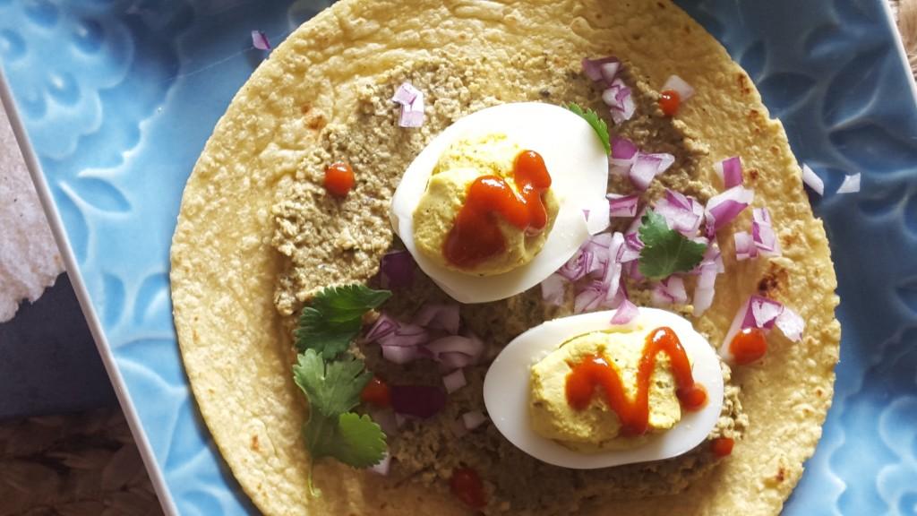 Deviled Egg Tacos by Eliot's Eats