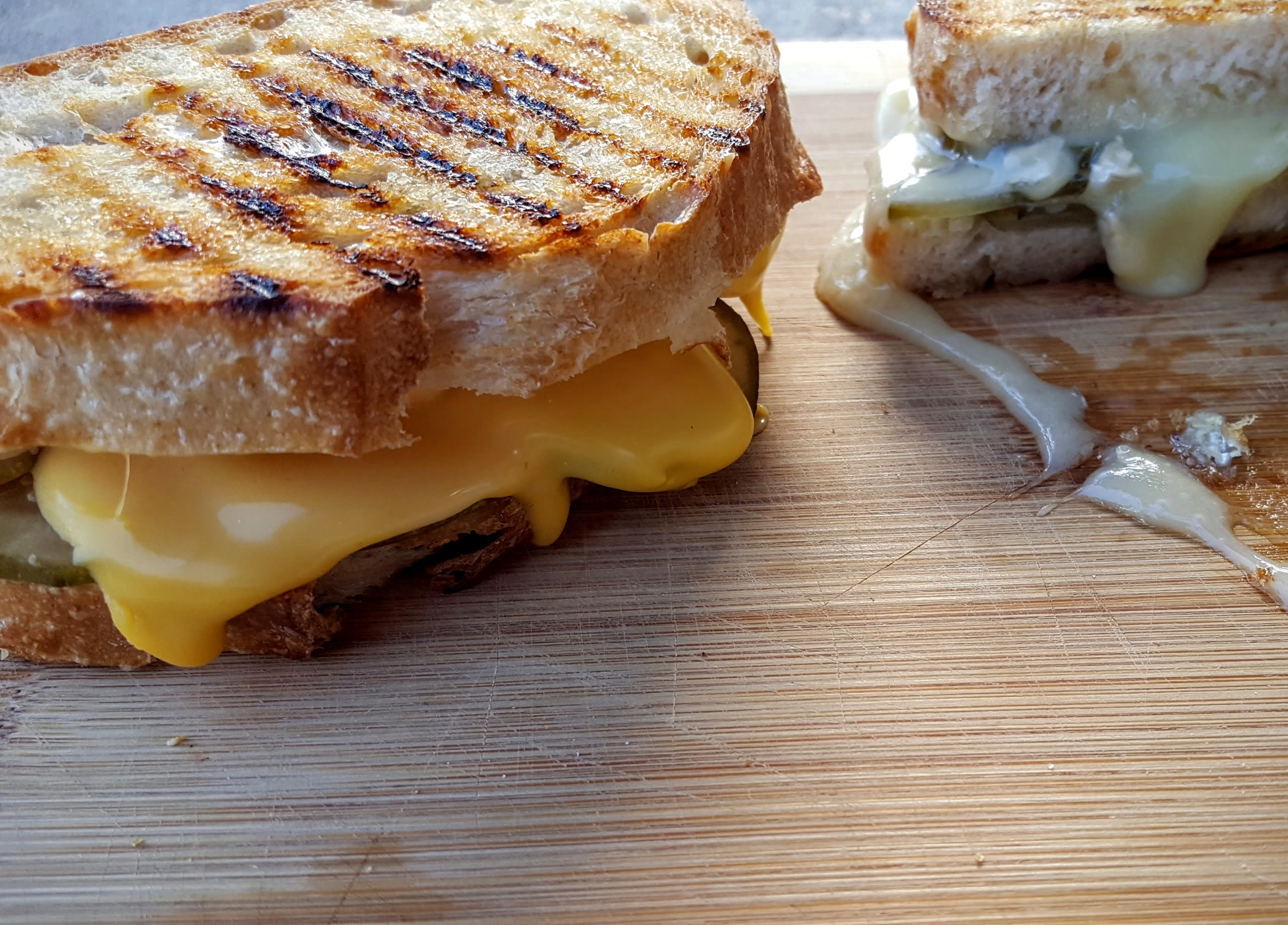 Grilled Cheese with Bread and Butter Pickles « Eliot's Eats