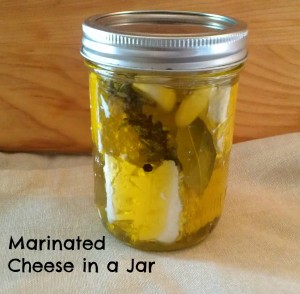 Marinated Cheese in  Jar